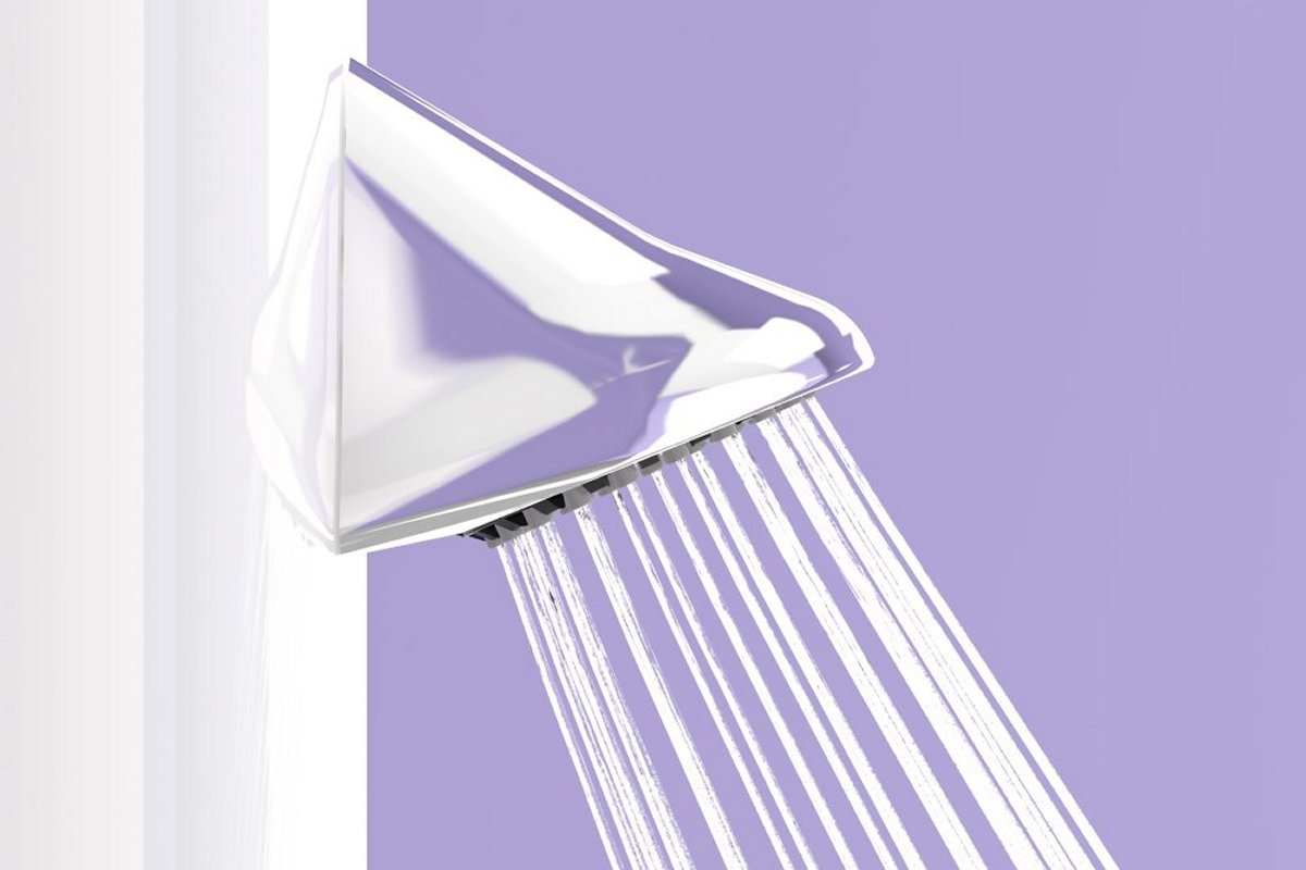 VR shower head with adjustable spray plate