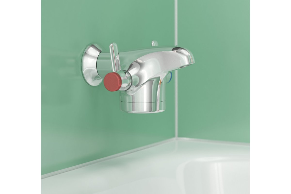 Horne Optitherm Thermostatic Tap TBT1-200SL over a bath (with short levers)