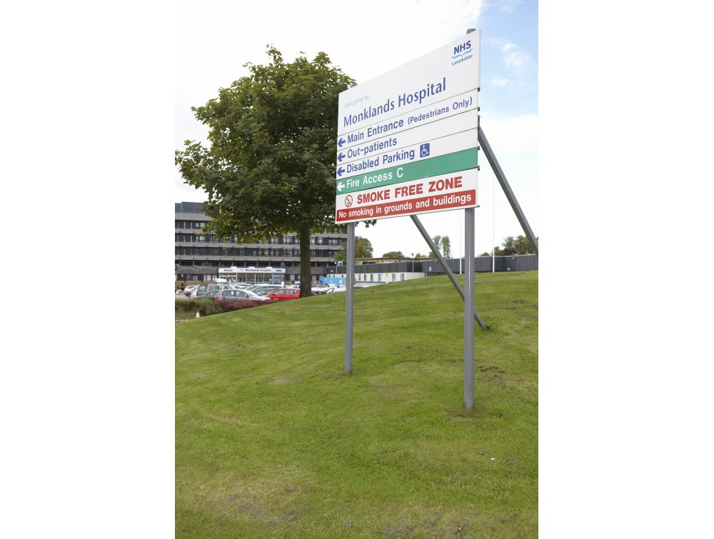 Monklands Hospital Sign