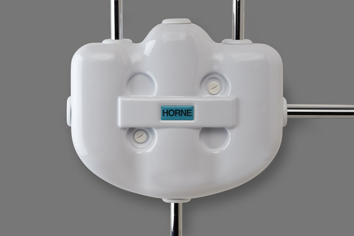 Horne H15 Thermostatic Mixing Valve with 4th connection to cold tap and white plastic cover (Bronze or chromium finish)