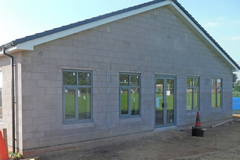 Brigg's new changing block at the Recreation Grounds