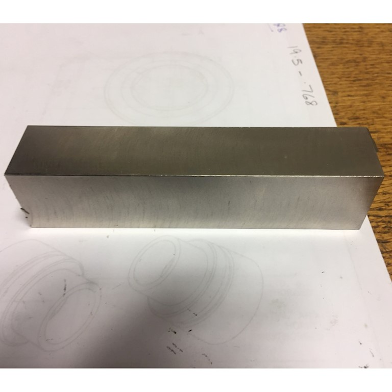 Bar steel to make a golf putter head