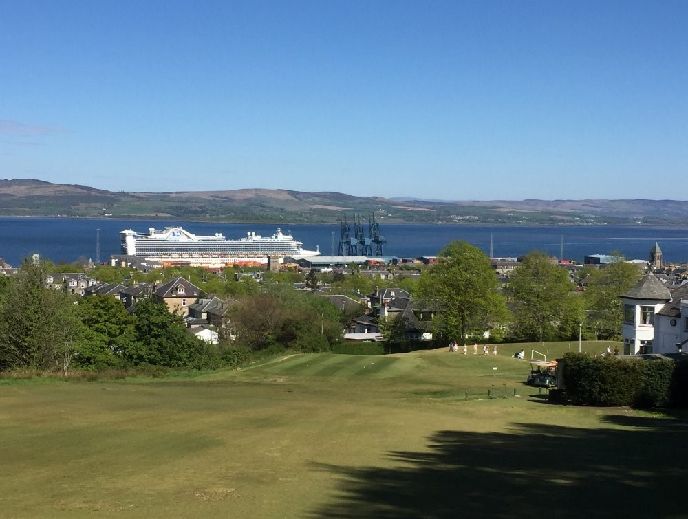 Glorious sunshine over the Clyde from Greenock Golf Course