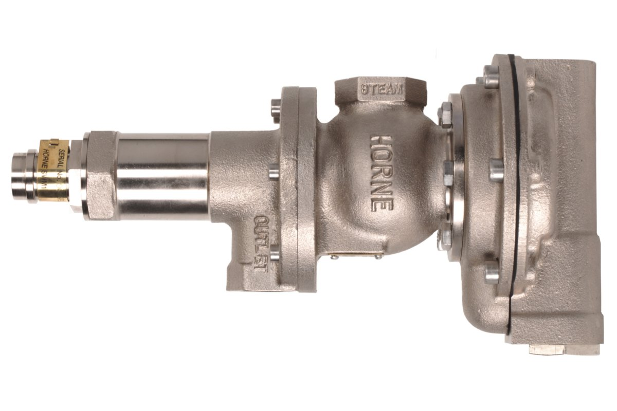 Horne Steam and water mixing valve with chromium plating