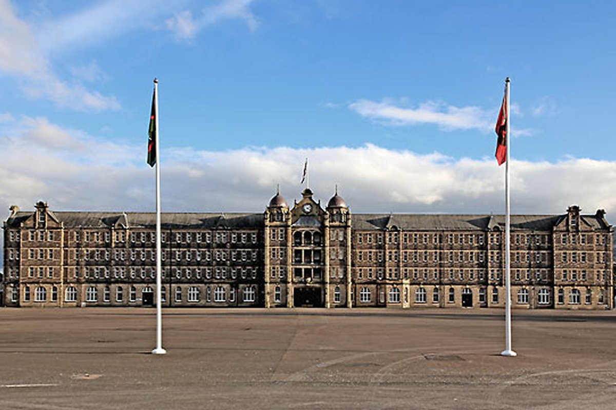 Redford Barracks Edinburgh. Reproduced with permission from Peter Stubbs www.edinphoto.org.uk
