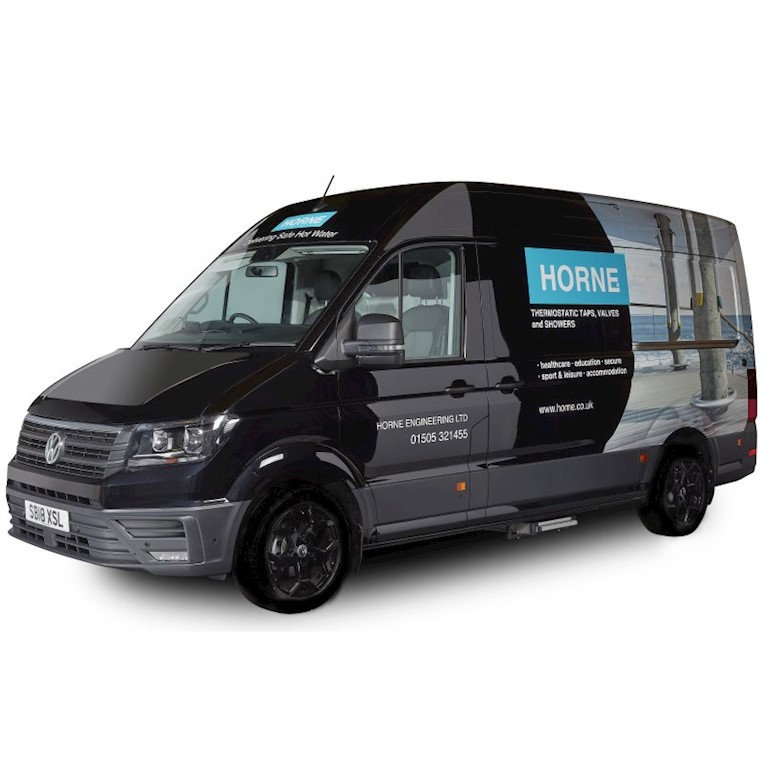 Horne's shiny new product Road Show Show van!