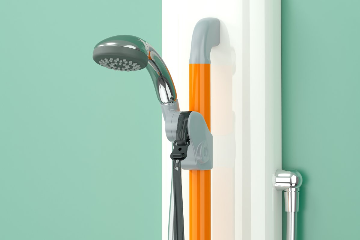 Single function handset, hose and Horne orange riser rail